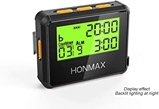 honmax 防水インターバルタイマー+ストップウォッチ,タイマーの用途: HIIT、Cross Fit、無酸素運動、重量挙げ、筋力トレーニング、タバタトレーニング、ケトルベル、MMA、エアロビックトレーニング、ヨガ、瞑想、ピラティス、キッチンタイマー、時間管理、間欠性トレーニング、マラソン、トライアスロン、ランニング、ウォーキング、戸外運動、ボクシングトレーニング、サイクリング、航海、セーリング競技計時等々