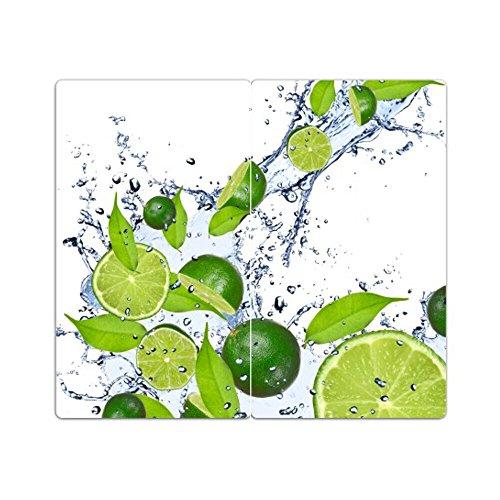 Herdabdeckplatten aus Glas m. Noppen von DekoGlas 2er-Set Herdabdeckung Schneidebrett Spritzschutz Limette