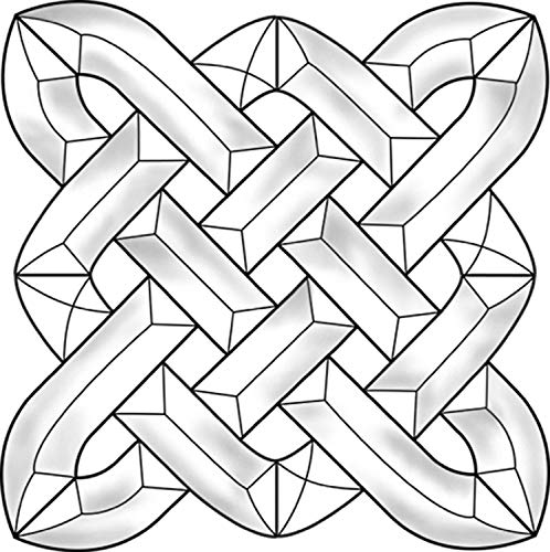 Stained Glass Supplies - Celtic Square Bevel Cluster EC829 7 3/8 Inch Square