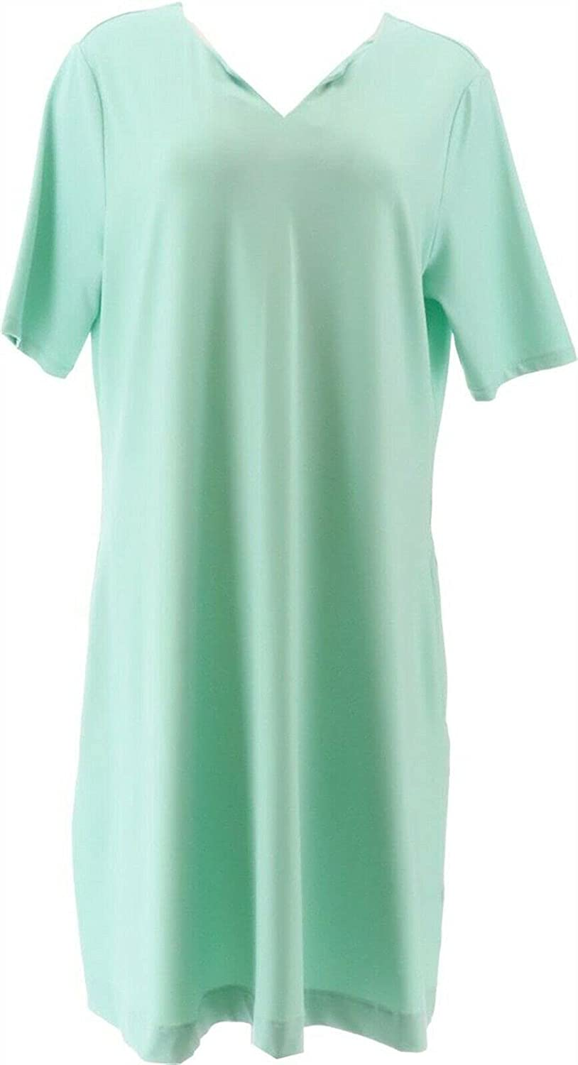 Large special price Elizabeth Clarke Knit Fit Flare Mint A375116 Dress 35% OFF StainTech