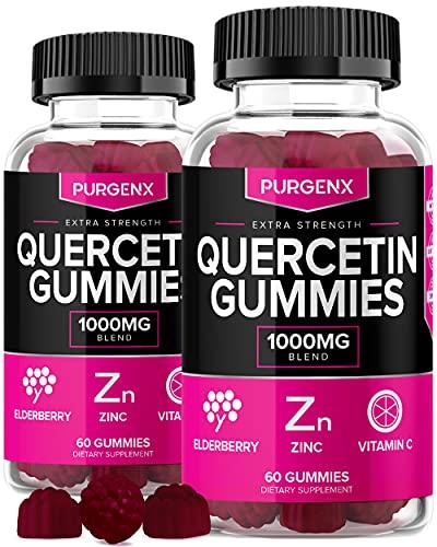 Quercetin + Zinc + Vitamin C 1000mg Gummies Supplements with...