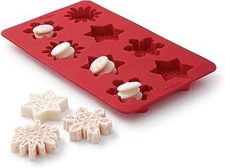 Wilton 2115-0177 Silicone Snowflake Bark Mold, Red