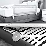 Kinder Bettschutzgitter EXTRA HOCH mit Befestigungsbändern optimal für Boxspringbett/Bett Standard - 5