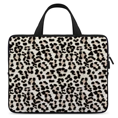 Laptop Sleeve Handle Bag Mega Snow Leopard Case Protective Bag, Portable Laptop,Ultrabooks Case Bag Cover, 15 Inch