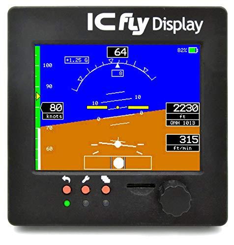 ICflyDisplay, Künstlicher Horizont & Motordatenanzeige für Ultraleichtflugzeuge, 3.5'' Touch Display, Fluginstrument
