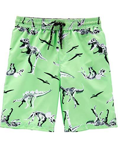 Carter's Boys' Little Swim Trunk, Dinosaur/Green, 6