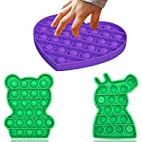 Veiai Pop It Fidget Toy, Sensory Fidget Toy Stress & Anxiety Reliever Silicone Pop Bubble Toy for Kids Adults (3-Pack)