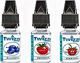 3 x 10ml Twizzy® Berry Aroma Bundle | Blaubeere, Erdbeere, Himbeere | Aroma für Shakes, Backen, Cocktails, Eis | Aroma für Dampf Liquid und E-Shishas | Ohne Nikotin 0,0mg | Flav Drops