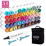 Best Art Markers - Shuttle Art 50 Colors Dual Tip Art Markers,Permanent Review