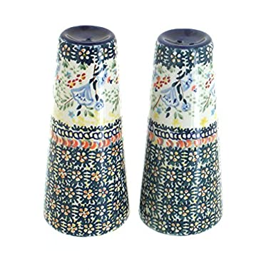 Blue Rose Polish Pottery Periwinkle Salt & Pepper Shakers