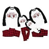 Family Matching Pajamas Set Women Men Kids Christmas Printed Top+Pants Set