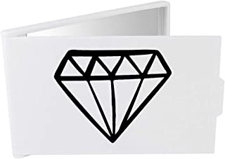'Diamond' Compact / Travel / Pocket Makeup Mirror (CM00024308)