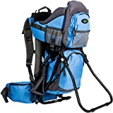 ClevrPlus Camping Baby Backpack Hiking Kid Toddler Child Carrier with Stand and Sun Shade Visor, Blue | 1 Year...