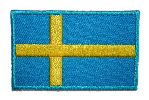 alles-meine.de GmbH Schweden 6,2 cm * 3,9 cm Bügelbild Aufnäher Applikation Fahne Wappen Flagge