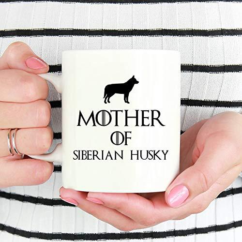 Taza con diseño de madre de siberiano Husky siberiano, taza de café Husky siberiano, taza de café Husky siberiano, taza de café Husky siberiano, taza Husky Husky, taza de café divertida de 12 onzas