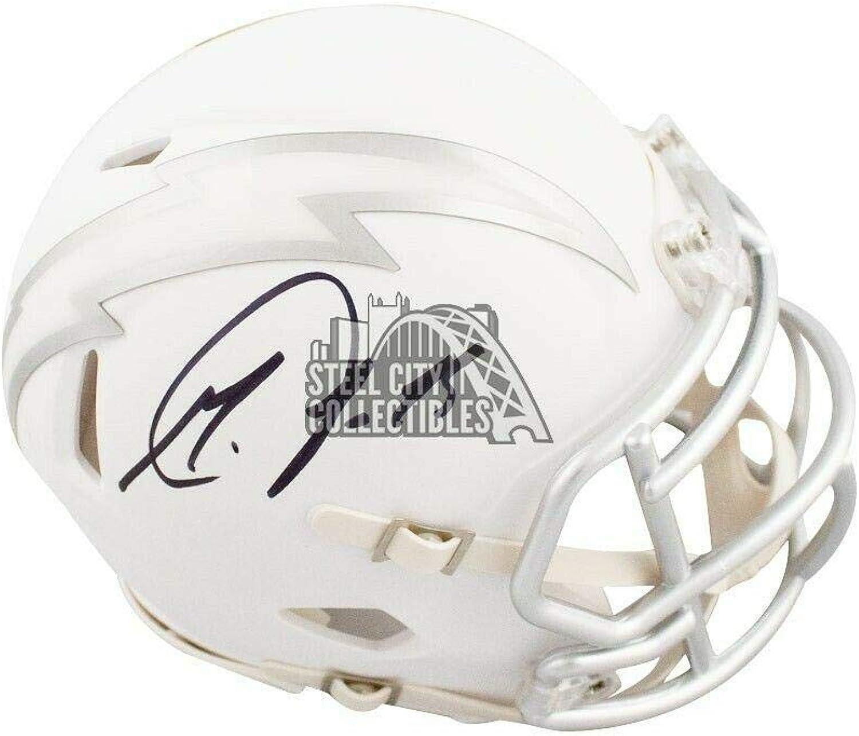 Melvin Gordon Signed Helmet  Ice Mini BAS COA  Beckett Authentication  Autographed NFL Mini Helmets