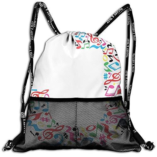 Drawstring Backpack Rucksack Shoulder Bags Gym Bag Sport Bag,J Typography In Artful...