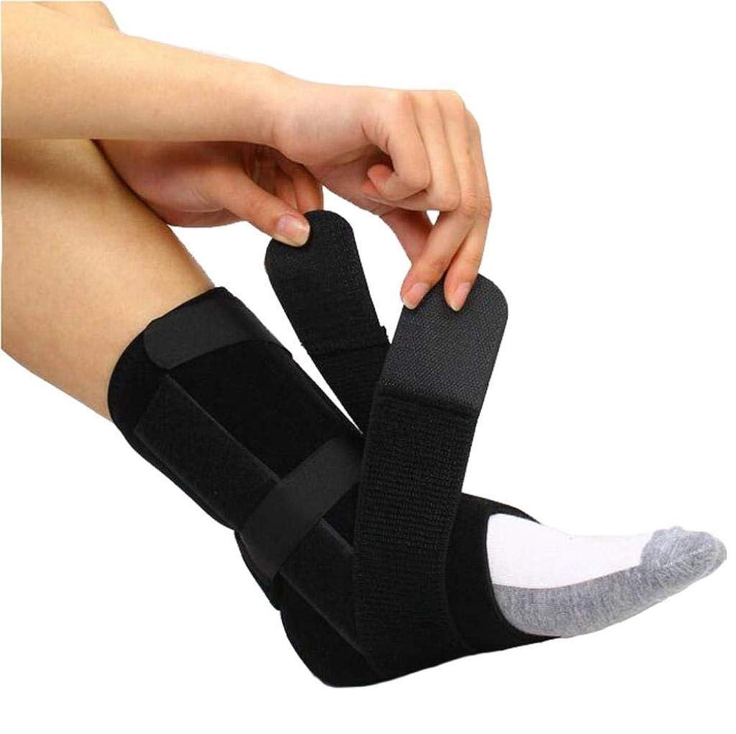 おとなしい曲テロドロップフット–ドロップフット、神経損傷、足の位置、圧力緩和、足首と足の装具のサポート-ユニセックス (Size : L)