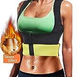 Litthing Chaleco Deportivo de Yoga para Mujer Fitness Sauna Neopreno Chaleco de Entrenamiento Compresión para Adelgazar Establecer Estatua Reducir Dolor(Negro, L)