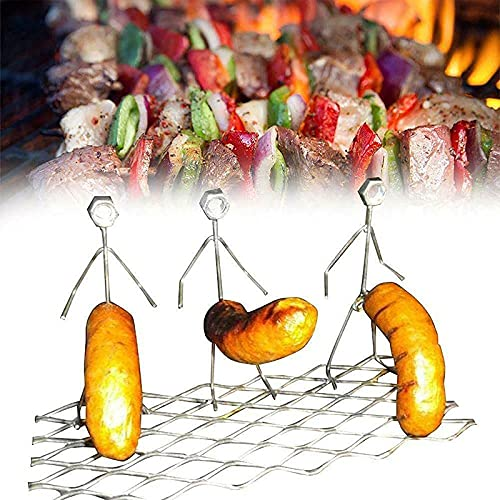 PPYA Steel Hot Dog/Marshmallow Roasters, Stainless Steel Hot Dog Marshmallow Roaster, Novelty Women Men Shaped Stainless Steel Camp Fire Roasting Stick, Funny Metal Craft Barbecue Forks (C)