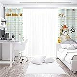 facwawf semplici tende per la casa 3d con motivo animale ombreggiature morbide anti-rumore anti-ultravioletti soggiorno camera da letto balcone tende decorative per bambini 2xw168xh229cm