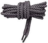 Lacci Sneakers Rope Corda Rotondo 125cm, Alta qualità (Nero/Bianco)