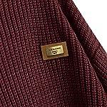 Fashion Shopping ZAFUL Women's Casual Loose Knitted Sweater Lantern Sleeve Crewneck Fashion