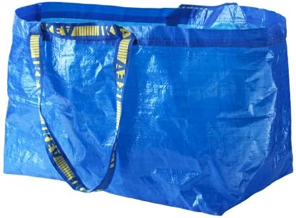 宜家 172 283 40 Frakta 购物袋大号蓝色 5 件套