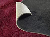 AUTOMAX izumi クッション付きスエード (A4) ワインレッド 30x20cm スポンジ アルカンターラ調 糊付き生地