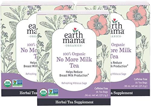 Earth Mama Organic No More Milk Tea Bags for Weaning to Help Reduce Breast Milk Production 16 product image