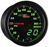 MaxTow Double Vision 60 PSI Turbo Boost Gauge Kit - Includes Electronic Pressure Sensor - ...