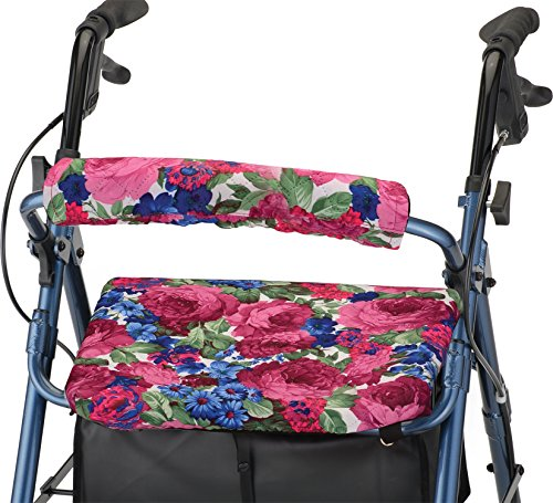NOVA Medical Products Rollator Walker Seat & Backrest Covers, Removable and Washable, Design, English Garden, 1 Count