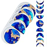 Mity rain Moon Phase Resin Molds - Crescent Silicone Moulds/Young New Moon Epoxy Moulds/Full Moon Geode Agate Moulds/Quarter Moon Moulds for DIY Art Casting Resin