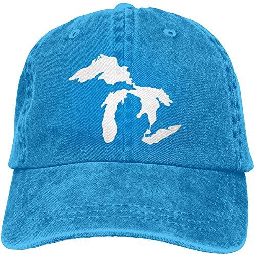 HujuTM Michigan Great Lakes State Baseball Caps Men Women Camping Adult Adjustable Trucker Dad Hats Cowboy Hat Casquette