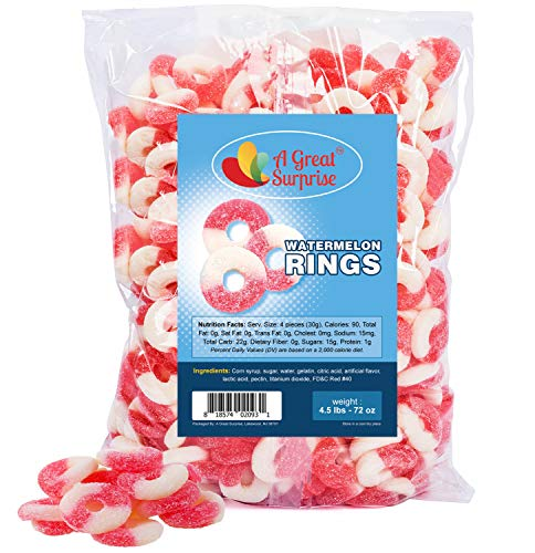 Watermelon Rings – Gummy Rings – Pink Candy – Bulk Candy