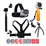 YHTSPORT <span class='highlight'>For</span> <span class='highlight'>Gopro</span> <span class='highlight'>Accessories</span>, <span class='highlight'>Gopro</span> <span class='highlight'>Accessories</span> Kit <span class='highlight'>for</span> <span class='highlight'>Gopro</span> Hero 6 5 4 3 Hero Session and SJ4000 Xiaomi Yi and Other Sports <span class='highlight'>Camera</span>s (Black)