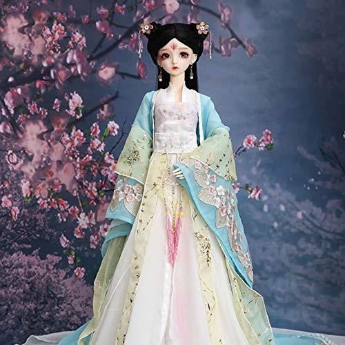 ZHDQ 1/3 BJD Puppe Clothes, Exquisit Antike Puppe Kleider Hanfu Vollständiger Satz, Fit Puppe Cosplay Party Dress Up (Keine Puppe)