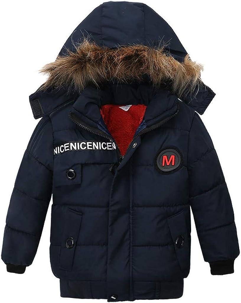 Children 100% quality warranty Kids Boys Girl Winter Coats Max 47% OFF Jacket Colla Hoodie Fur Zip