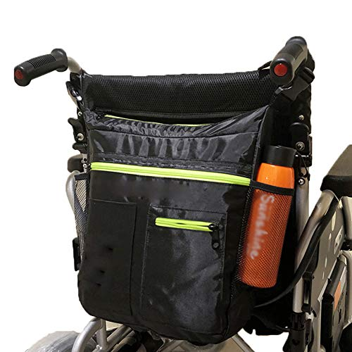HEWYHAT Rollstuhlrucksack Tasche, Aufbewahrungstaschen für Rollstuhl und Walker-Zubehör, leichte Packung für Roller, elektrische Rollstühle