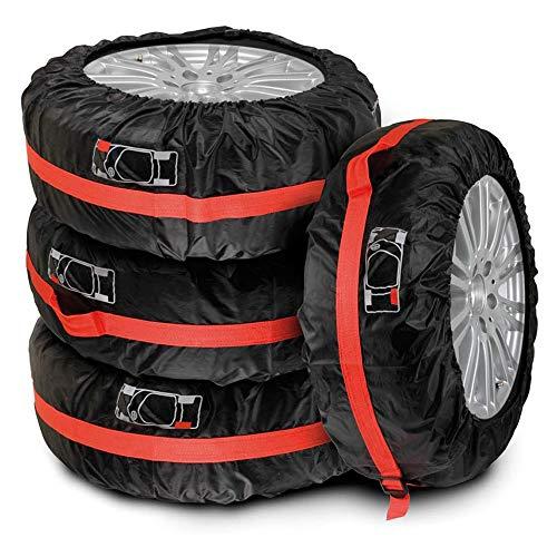 AGKupel Reifentaschen Set 4 Stück Autorädertaschen Auto Reifen Taschen Reifenschutz Passend für 19-23 Zoll große Autoreifen mit Reifenposition Aufdruck und Griff