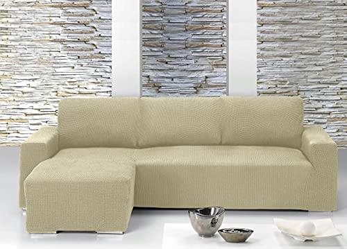 Il Dolce Stile della tua Casa® - Copridivano universale con penisola per divani con penisola a destra o sinistra (Panna, Penisola a Sinistra)