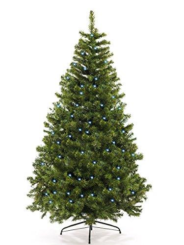 awshop24 Künstlicher Weihnachtsbaum Tannenbaum Christbaum Tanne mit und ohne LED, in verschiedenen Größen und Ausführungen (120 cm, Natur-Grün LED)