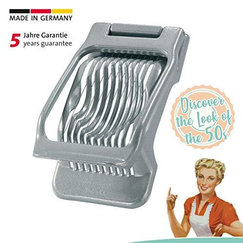 Westmark Eierteiler, Retro-Design, Aluminium/Rostfreier Edelstahl, 13x8x3cm , Duplex, Grau, 1020RT60