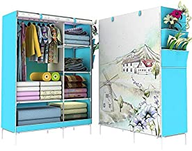 Portable Wardrobe Organizer Curtain Cover With 3d Print