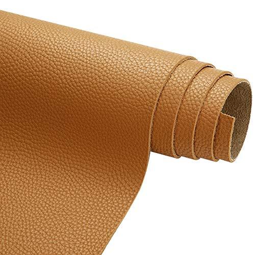 MUYUNXI Polipiel Cuero Artificial De Cuero para Tapizar Sofá Polipiel Silla Manualidades Cojines 138 Cm De Ancho Vendido por Metro(Color:Mostaza Amarilla)