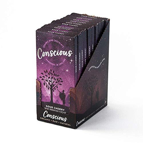 Bewust Chocolade Zure Kersen - Vegan Organische Peruaanse Cacao - 10x60g