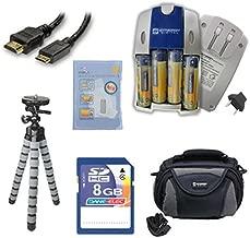 Samsung WB110 Digital Camera Accessory Kit includes: SB257 Charger, KSD48GB Memory Card, HDMI6FM AV & HDMI Cable, ZELCKSG Care & Cleaning, GP-22 Tripod, SDC-26 Case