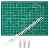 Anezus Craft Knife Precision Cutter and Self Healing Cutting Mat Hobby Knife Set with 30 PCS Hobby Blades Art...