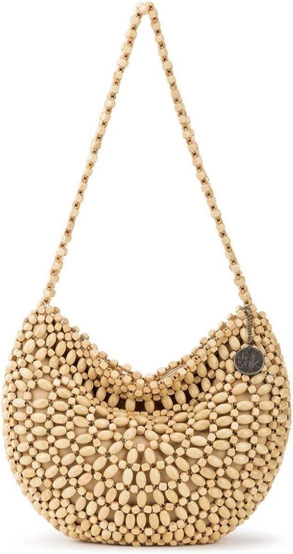 The Sak Montara Wood Beaded Hobo Bag - Natural Wood Beads