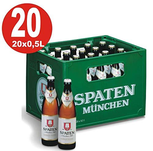 20 x Spaten Münchner hell 0,5 L - 5,2% Alkohol Originalkiste